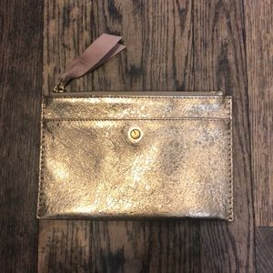 J. Crew Gold Leather Wallet